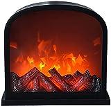 CDERFVB Chimenea eléctrica, Chimenea de luz de llama, Chimenea de pared con fuego eléctrico, efecto de llama LED, lugar de...