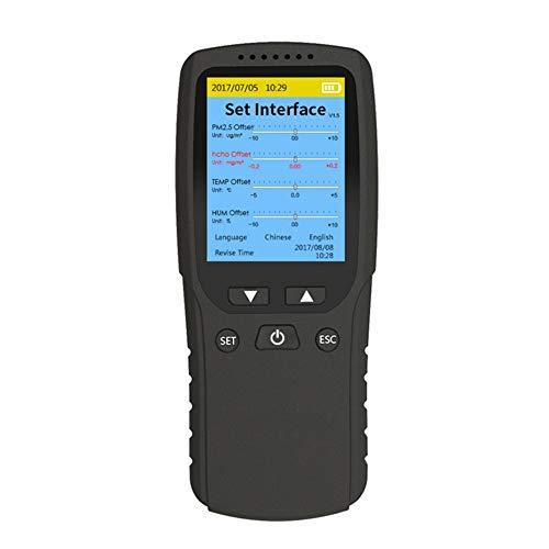 DZSF 8 in 1 Formaldehyd-Detektor PM1.0 PM2.5 PM10-Monitor TVOC HCHO Temperatur- Und Feuchtigkeitsmessgerät Air Quality Monitor Gas Analyzer