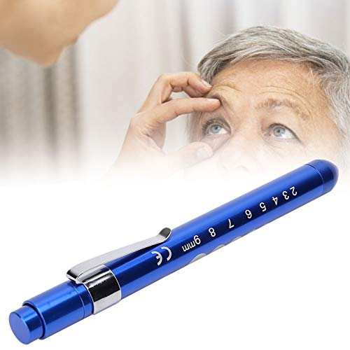 TMISHION Luce Penna, Lampada Medica Riutilizzabile Lampada diagnostica Professionale Pupilla Controllo Penna(Blu)