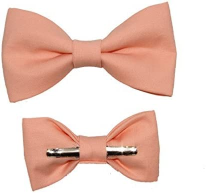 Toddler Boy 3T 4T Peach Clip On Cotton Bow Tie Bowtie by amy2004marie