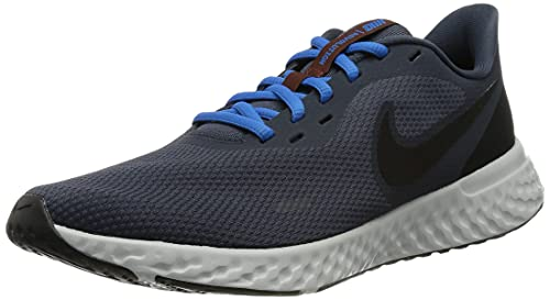 Nike Herren Revolution 5 Laufschuh, Thunder Blue/Black-Grey Fog, 46 EU