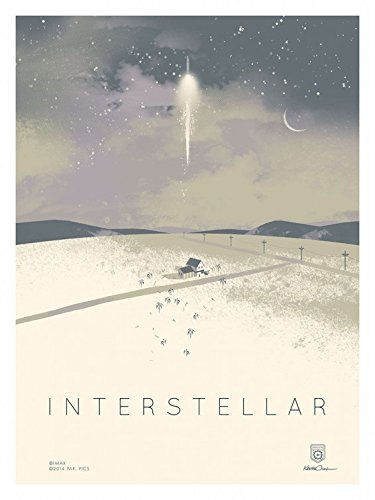 "INTERSTELLAR 12""x16"" Original Promo Movie Poster 2014 IMAX Version Christopher Nolan"