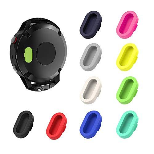 10 piezas protectores de puerto de cargador coloridos compatibles con Fenix 6X 6S 65 5S 5X Plus Garmin Vivoactive 4 4s 3 Music Forerunner 935 Approach S60 Quatix5,tapones antipolvo de repuesto