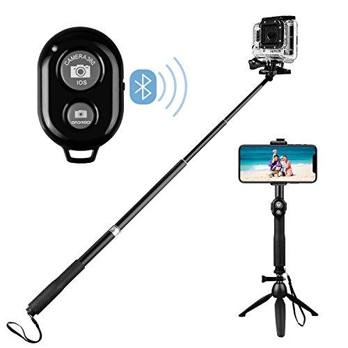 Longzhuo Selfie-stick met statief draadloze bluetooth-afstandsbediening professionele high-end voor GoPro DSLR-camera's afneembaar voor iPhone/Android