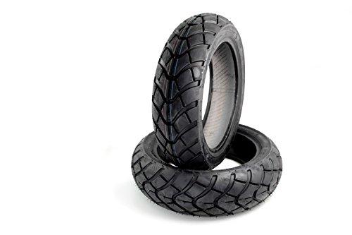 Allwetter Reifen Set Kenda K761 kompatibel mit Peugeot Speedfight 1 + 2 50/100 AC/LC, Trekker 100 (120/70+130/70)