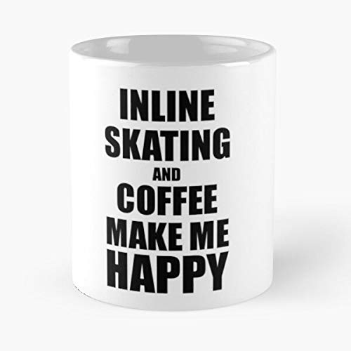 Hobbies Funny Fan Inline Skating Coffee Lover Best 11 Ounce Ceramic Coffee Mug