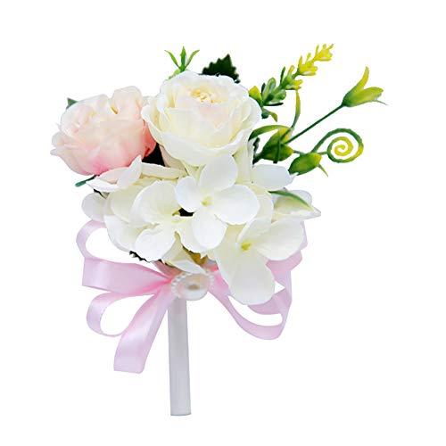 Demarkt Bruiloftsbruid boutonnees Kunstbloem Boutonnees Romantische bruiloft party simulatie bloem corsage