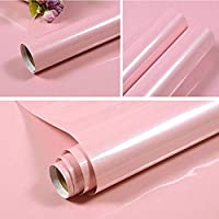 壁紙 40Cm幅の自己接着性壁紙食器棚家具紙キッチンキャビネットウォールステッカー部屋の装飾フィルム-Pink_40Cm_X_5M