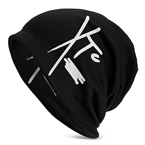 Jard-T XTC Strapazierfähige Beanie-Mütze, 3D-Druck, warme Winter-Sommer-Strickmützen für Damen und Herren, schwarz
