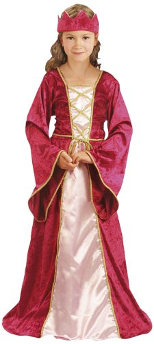 Costume medieval moyen age enfant deluxe reine Queen Mary. Taille: 4-6 ans medievale moyen age