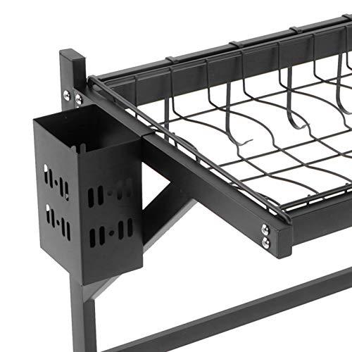 Uxsiya Estante para fregadero que ahorra espacio, escurridor para secar la cocina, estante ajustable para tapa de olla