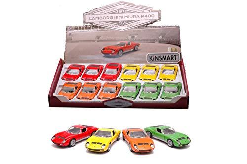 per LAMBORGHINI MIURA P400 SV cm 12 (1 Modellino a Scelta) 1:34 - Kinsmart - Modellismo Giocattolo - Die Cast - Modellino
