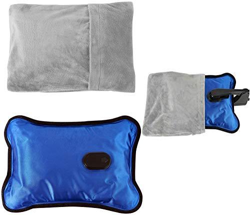 Elektrische Wärmeflasche | 360 Watt | Hält Wärme bis zu 5h | Heizt in 15 min auf | Wärmekissen | Wärme Flasche | Wärmflasche | Wärmetherapie | Rückenkissen | Heizkissen | Überhitzungsschutz |