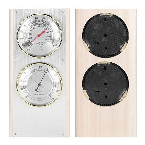 keyren Hochwertiges 2-in-1-Saunahygrometer, Saunaraumthermometer, Multifunktionsraumthermometer, Hygrometer, Sicherheit für die Saunaraumtemperatur zu Hause gewährleisten