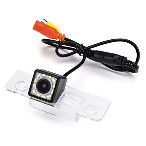 aSATAH 12 LED Car Rear View Camera for Ford Mondeo MK2 MK3 / Ford Fusion/Ford Fiesta ST/Classic/Ikon/Flex/Taurus &Waterproof and Shockproof Reversing Backup Camera (12 LED)
