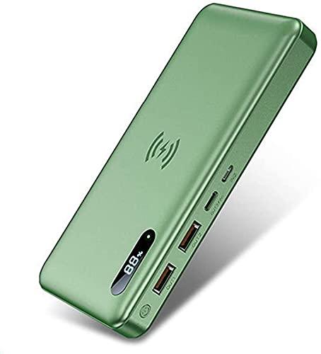 BEILA Batería Externa Inalambrica, 50000mAh Power Bank con 15W Carga Inalambrica & 22.5W Bidireccional Carga Rápida, Cargador Portátil con Pantalla LCD Digital,Verde