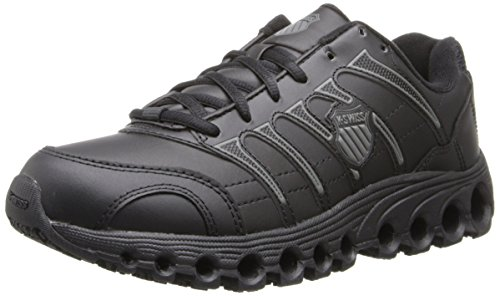 K-Swiss Women's Grancourt Tubes Slip Resistant Duty Shoe,Black/Charcoal,11 M US