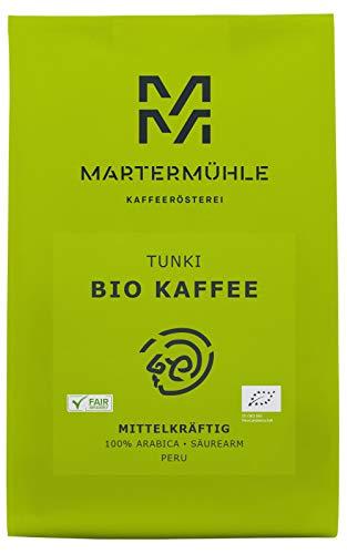 Martermühle   Bio Kaffee Peru Tunki (250g)   Ganze Bohnen   Premium Kaffeebohnen aus Peru   Schonend geröstet   Kaffee säurearm   100% Arabica