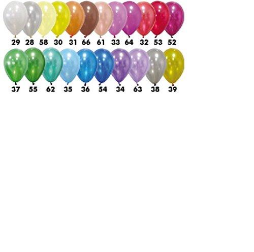 Lot de 12 ballons Metallique - 28 cm - Modele 55 - Vert fonce - 5108-55
