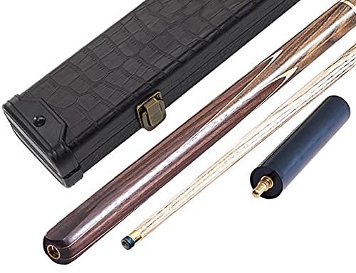 Pool Billard Queue 3/4 Split,Handgefertigtes 18 Oz Eichenholz Snooker Billard Cue,mit VerläNgerungsstange Soft Case/Hard Case Optional Verwendet/D / 10mm