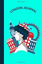 London Journal: Queen Elizabeth II London Eye Big Ben & Red Phone Box | Diary & Writing Notebook | Daily Diaries for Journalists & Writers | Use for Note Taking | Write about your Life & Interests