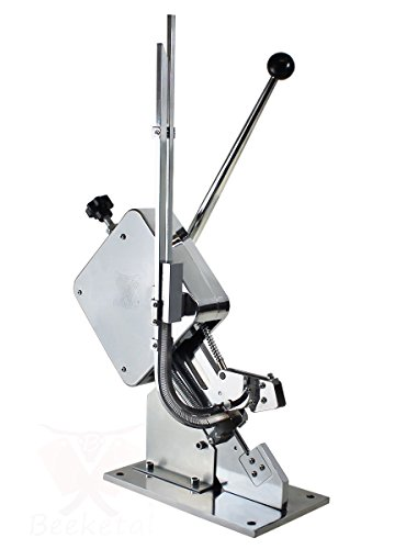 Beeketal 'BT-WC' Industrie Wurstklipper für Würste mit Kunstdarm oder Naturdarm, vertärkte Feder für Dauerbetrieb, Stellschraube zur Druckeinstellung der Klammern, Klipper Set inkl. 1000 Klammern