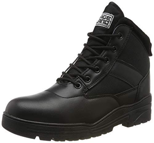 Savage Island Leather Combat Mid Height Boots Cadet Army Patrol Security...