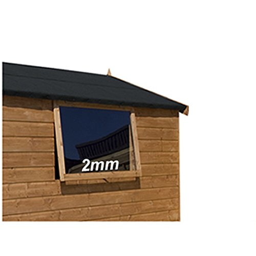 Set of 2. 2mm Acrylic Perspex Sheet for SHED Windows 2Ft x 2Ft/610mm x 610mm