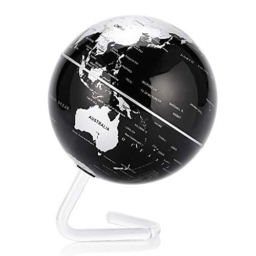 GOTOTOP Globo terráqueo de rotación automático 10cm, Globo Interactivo eléctrico Mapa Mundial de la Tierra
