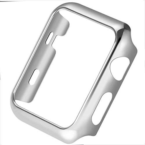 ANERNAI Schutzhülle für Apple Watch Serie 4, 40 mm, superdünn, hart, Polycarbonat, stoßfest (Silber)
