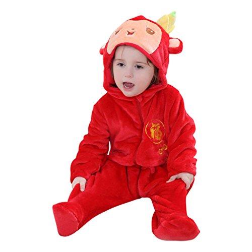 Katara 1778 Costume Scimmia Neonati Bambini Tuta Kigurumi Animale Pigiama Intero con Cappuccio Bambino 18-24 Mesi