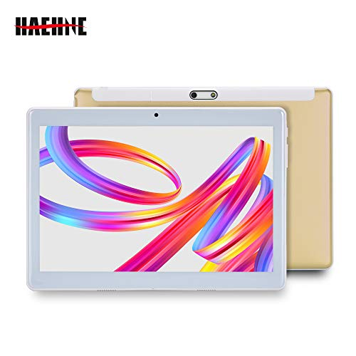 Haehne 10.1 Pollici Tablet PC, Google Android 4.4 GSM WCDMA 3G Phablet, Schermo Capacitivo HD 1280*800P, Quad Core 1.3GHz A7 1GB+16GB, Telecamera Doppia 2.0MP+0.3MP, 4500mAh, WiFi, Oro