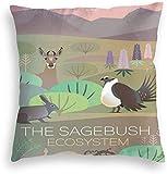 Redsheep - Funda de almohada de terciopelo personalizada, estilo vintage, diseño de Sagebush, diseño de ecosistema de viaje
