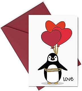 Biglietto d'auguri - love - palloncini - festa degli innamorati - gli stampati- biglietto d'auguri (formato 15 x 10,5 cm) ...