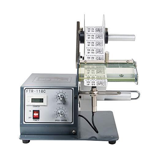 CGOLDENWALL Dispensador Automático de Etiquetas 120-250mm Opcional Ideal para Etiqueta Transparente/Etiqueta Autoadhesiv/Barcode Etiquetas (Sensor de Fibra, Ancho 160mm)