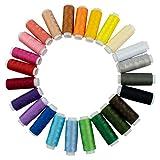 TRIXES Filo per Cucire in Poliestere Colori Assortiti 24 spagnolette.