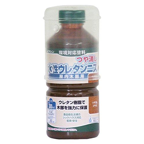 和信ペイント 水性ウレタンニス つや消しけやき 300ml 屋内木部用 ウレタン樹脂配合 低臭・速乾