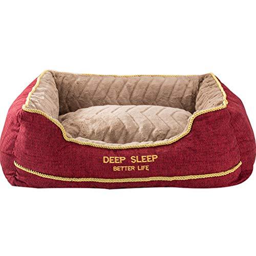 MYYINGELE Haustier Haustier Bett Katze und Hund rundes Plüschbett, quadratisches Hundebett, Plüsch Hundesofa, Katzensofa, Plüsch Katzenbett Sanft, 90 * 68 * 26CM