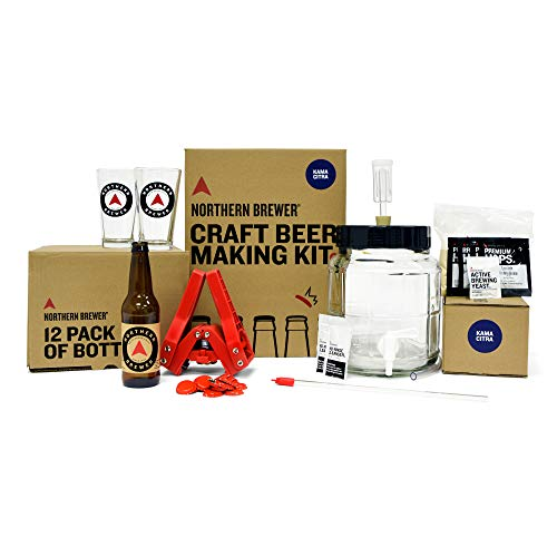 Northern Brewer - All Inclusive Gift Set 1 Gallon Homebrewing Starter Kit with Recipe (Kama Citra IPA)