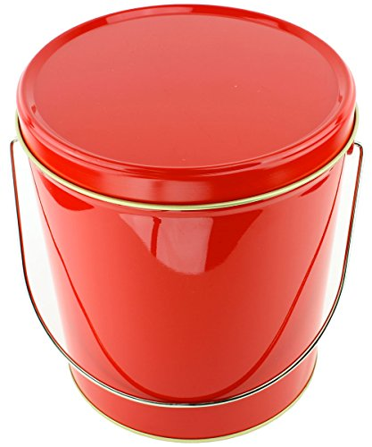 For Sale! Signature Popcorn, 1-Gallon Solid Red Reusable Metal Tin - Butter/Caramel/Cheddar Cheese