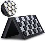 QuadPro Magnetic Travel Checkers Board Game Set with Folding Board Family Educational Toys for Kids and Adults