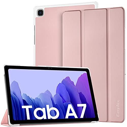 EasyAcc Funda Compatible con Samsung Galaxy Tab A7 10.4 2020 SM-T500 T505 T507, Ultra Slim PU Protectora Carcasa con Función de Soporte, Oro Rosado