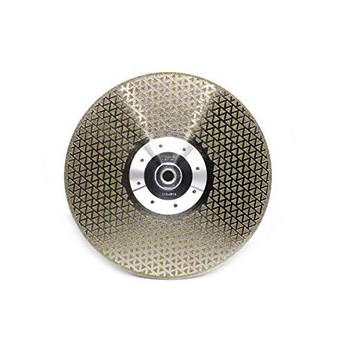 1 x professionele diamantschijf diamantdoorslijpschijf galvanisch Ø 115 mm met M14-flens voor fijnsteengoed, graniet, marmer, keramiek, natuursteen-tegels, betaon, enz.