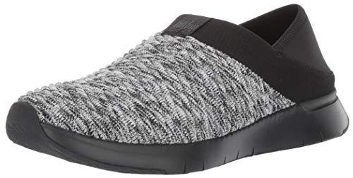 FitFlop Women's ARTKNIT Sneaker, Black Mix, 8 M US