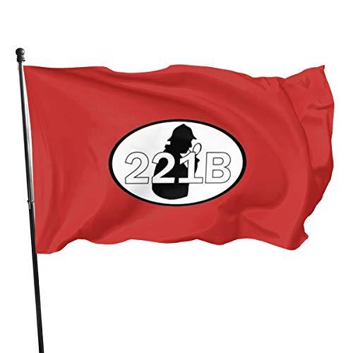 N/ 221b Sherlock Holmes – Sherlock-Design, Flagge, Banner, 91 x 152 cm