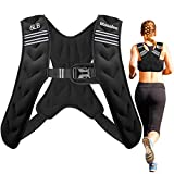 Masalee Sport Weighted Vest 4lbs/6lbs/12lbs//20lbs/25lbs Weight Vest with Reflective Stripe for Workout, Strength Training, Running, Fitness, Muscle Building, Weight Loss (6, Small)