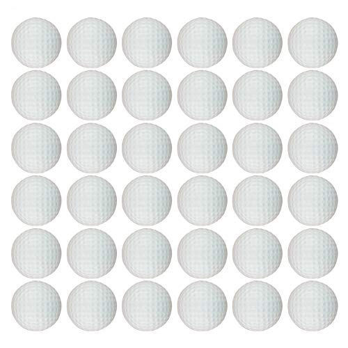 Dsmile White Foam Golf Practice Balls 36 Pack Light Soft Elastic Training Multifunction Sport Balls
