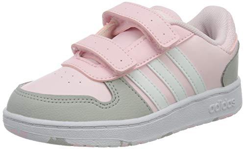 adidas Hoops 2.0 CMF I Basketball Shoe, Clear pink/FTWR White/Grey Two, 27 EU