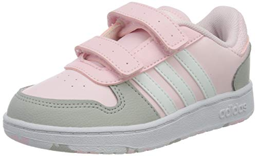 adidas Hoops 2.0 CMF I Gymnastics Shoe, Clear Pink FTWR White Grey Two, 6 UK Child