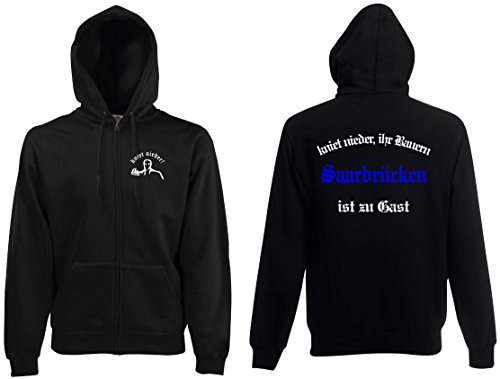 world-of-shirt Herren Kapuzenjacke Saarbrücken Ultras kniet nieder